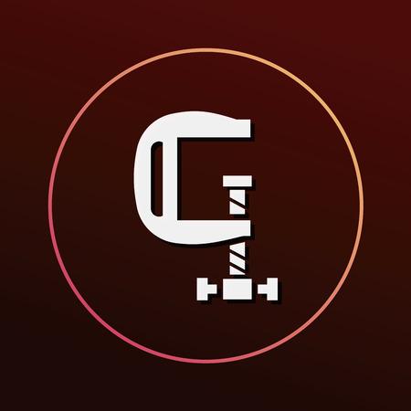 vice grip: clamp icon Illustration
