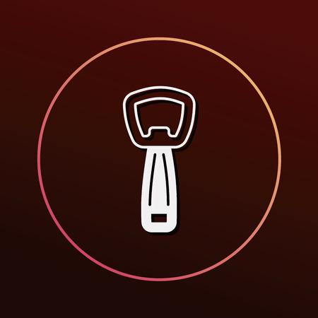 the opener: Bottle Opener icon Illustration