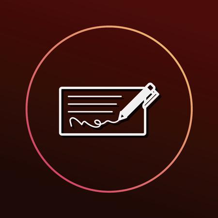 checkbook: money check icon