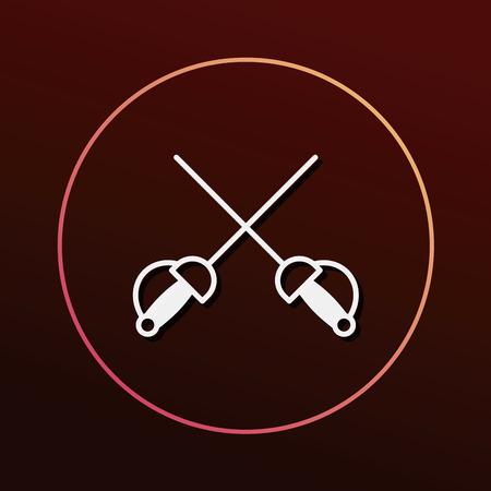 fencing: Fencing icon Illustration