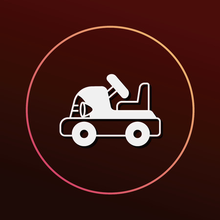 toy the car: baby toy car icon