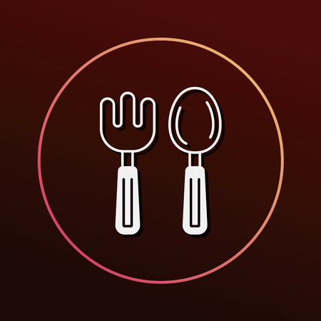 baby cutlery: baby spoon and fork icon