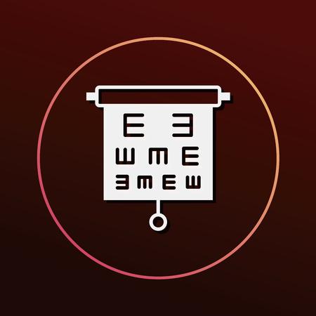 eye chart: Eye chart icon Illustration