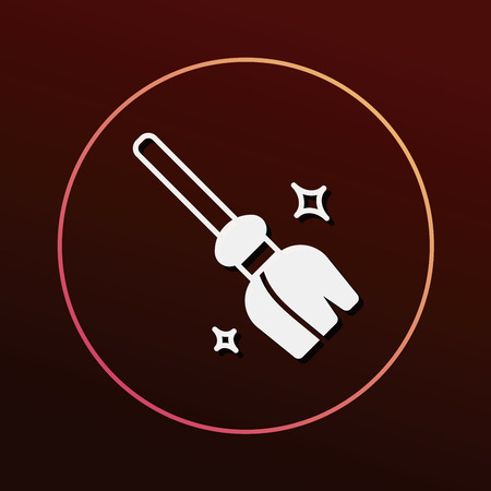 broom handle: witch broom icon