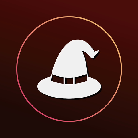 halloween witch: halloween witch hat icon