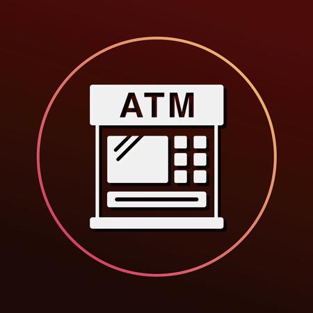 金融銀行 ATM アイコン  イラスト・ベクター素材