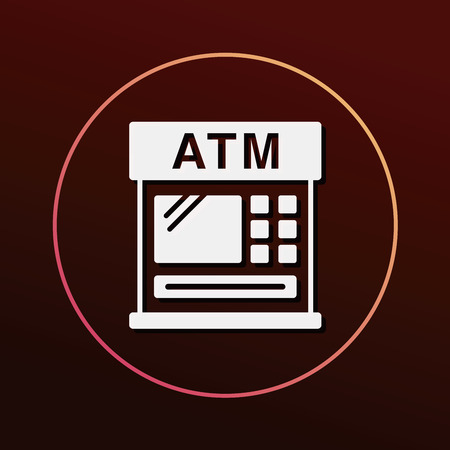 financial bank ATM icon