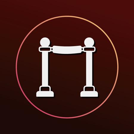 Cinema fence icon 向量圖像