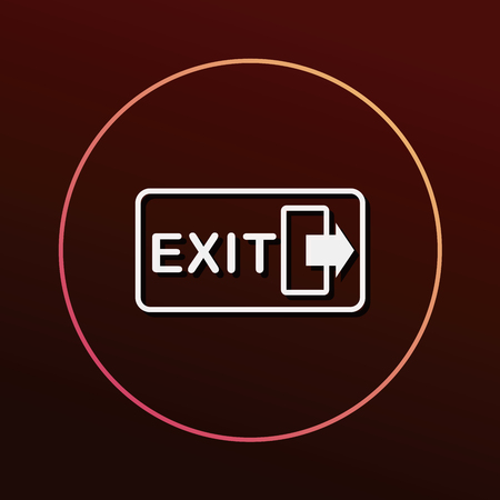 green exit emergency sign: exit icon Illustration
