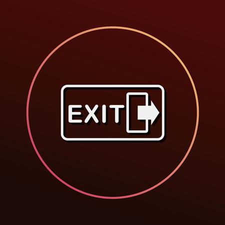 Icono de salida Foto de archivo - 51251159