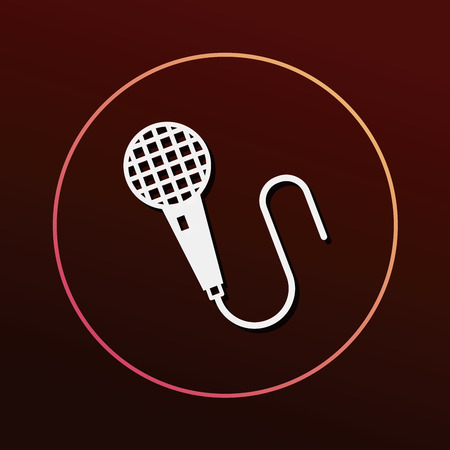 birthday party: birthday party music microphone icon Illustration