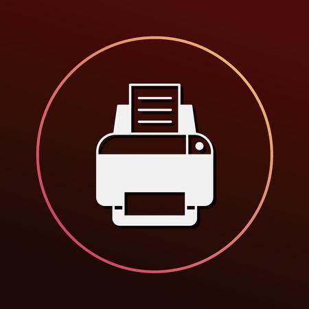 printer icon Stock Vector - 51268406