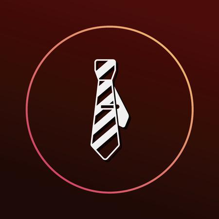 dresscode: Necktie icon Illustration