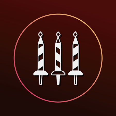 torta candeline: compleanno icona candela Vettoriali