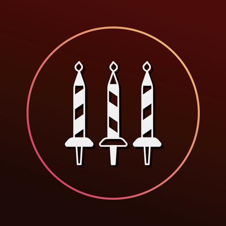 birthday candle icon Illustration