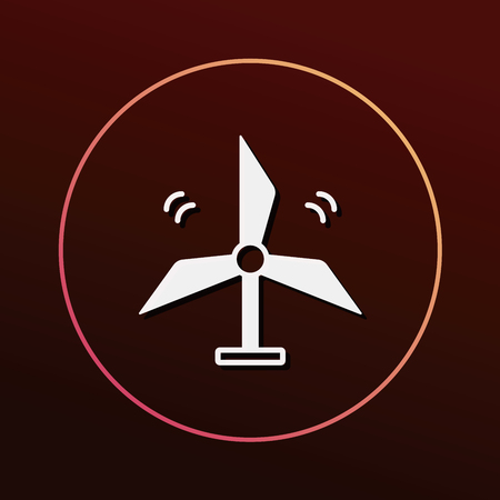 protection icon: Environmental protection concept wind energy icon