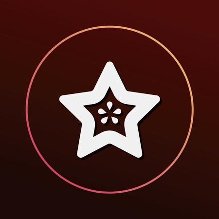 star: Star fruit icon