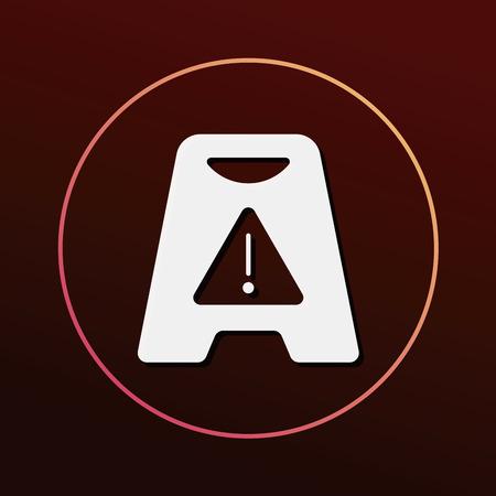 wet floor: caution wet floor icon