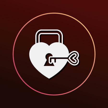 lover: lover lock icon