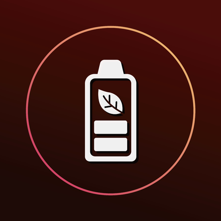 protection icon: Environmental protection concept battery icon