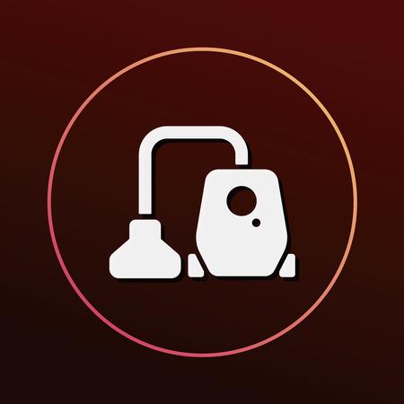 cleaner vacuuming symbol: Vacuum cleaner icon Illustration