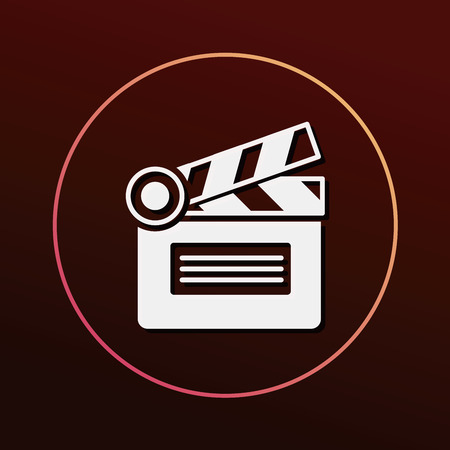 clapboard: clapboard icon