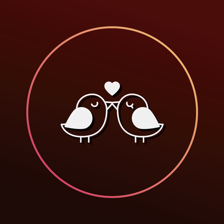 lover: lover birds icon