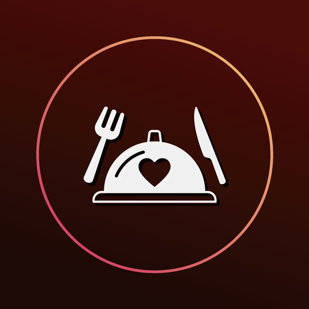 meal: valentines day meal icon