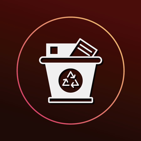 protection icon: Environmental protection concept recycled garbage icon Illustration