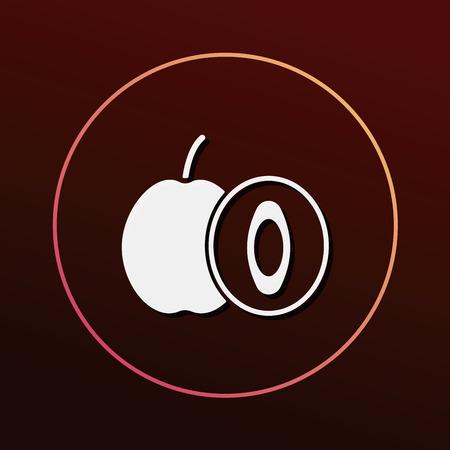 plum: fruits plum icon