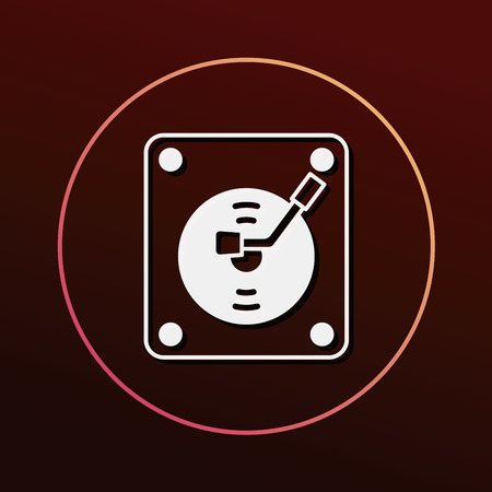 vinyl disk player: record player icon