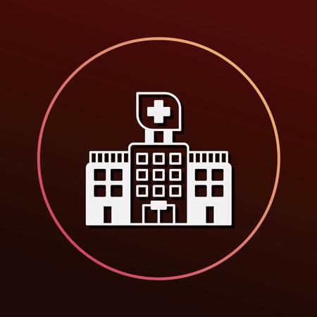 hospitalization: hospital icon