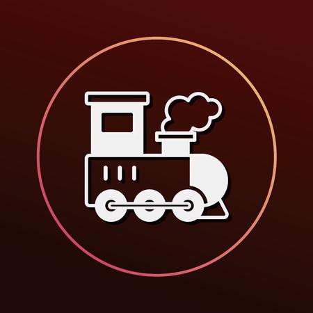 icono de tren Ilustración de vector