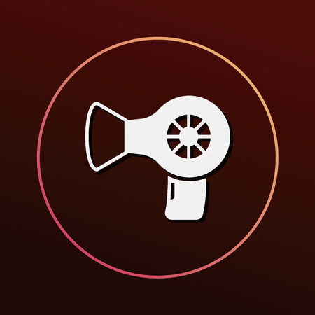 hair beauty: hair dryer icon