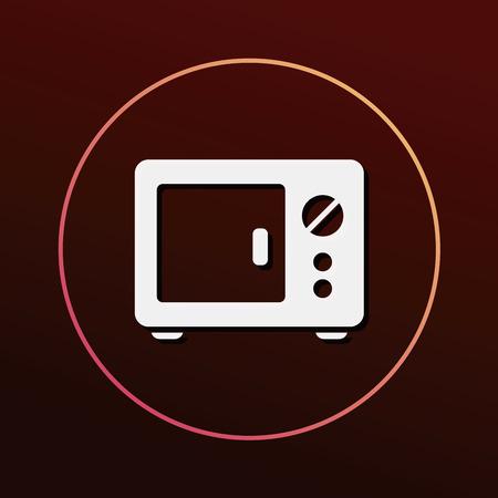 microwave: microwave icon Illustration