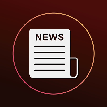 feature films: Media News icon Illustration