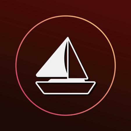 marine industry: ship boat icon