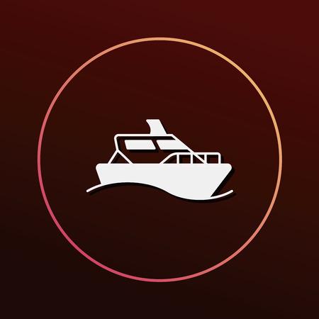marine industry: ship icon Illustration