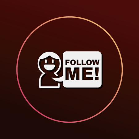 follow me: follow me icon