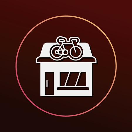 store: bike shop store icon