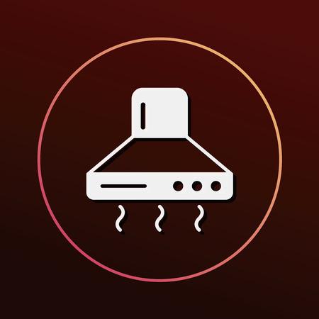 range: range hood icon Illustration