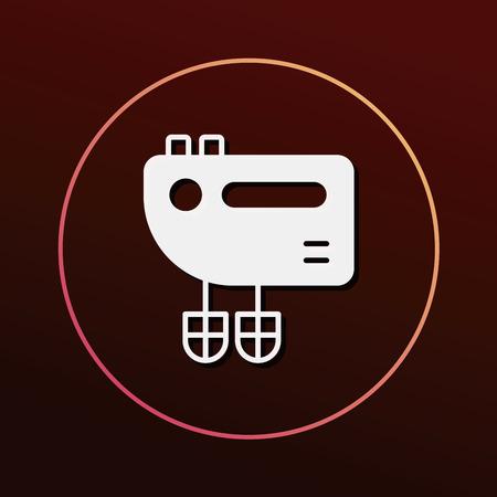 batidora: kitchenware beater icon Vectores