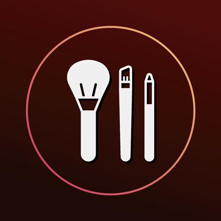 black makeup: makeup brush icon