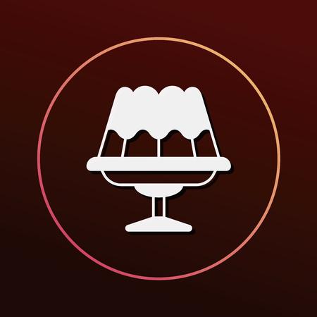 gelatin: pudding jelly icon
