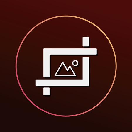 the depth: camera depth of field icon Illustration
