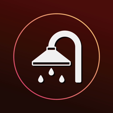 showering: Shower heads icon