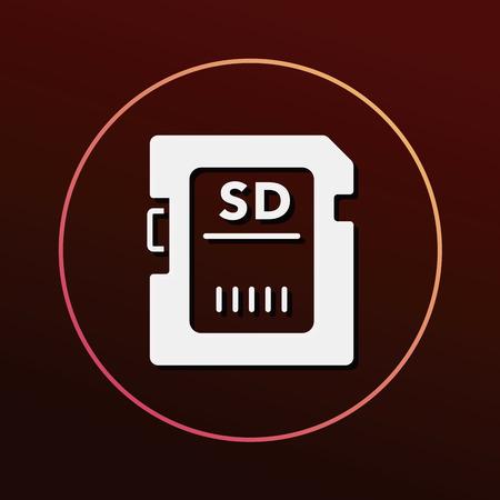 sd card: camera SD card icon