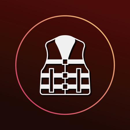 life jacket: Life jacket icon