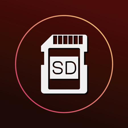 sd: camera SD card icon