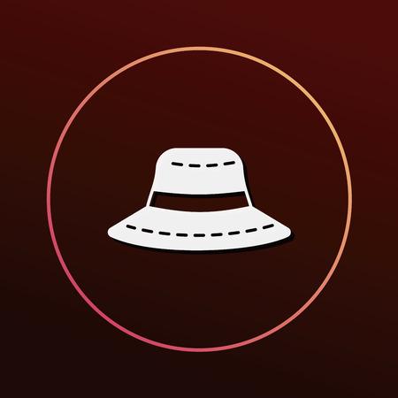 sun hat: sun hat icon Illustration